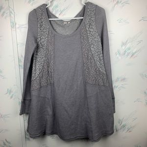 E by Eloise Gray Thermal Lace Chemise Tunic Small